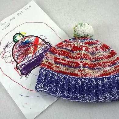 Kids Coloring Book Knitted Hat