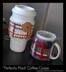 """Perfectly Plaid"" Coffee Sleeve & Mug Cozy"