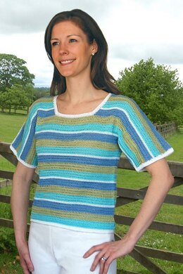 Striped Tee to Crochet