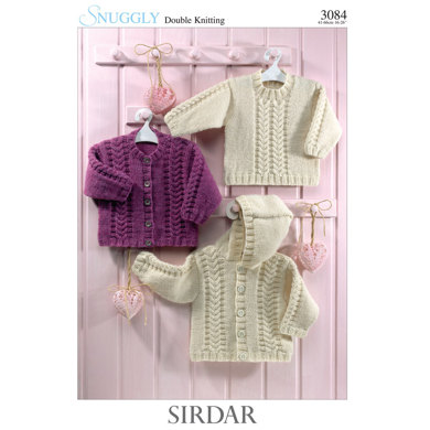 Sirdar Knitting Pattern Abbreviations : Jackets and Sweater in Sirdar Snuggly DK - 3084 - Downloadable PDF