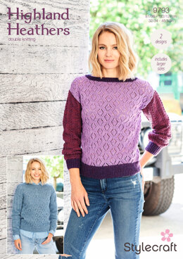 Sweaters in Stylecraft Highland Heathers - 9793 - Downloadable PDF