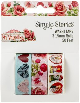 Simple Stories Simple Vintage My Valentine Washi Tape 3/Pkg - 613126
