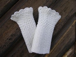 Mock Cable Wrist Warmers