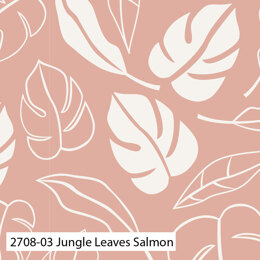 Craft Cotton Company Botanical Elements - Jungle Leaves Salmon