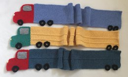 Child's Truck Scarf - Knitting ePattern