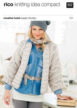 Cabled Jackets in Rico Creative Twist Super Chunky - 124