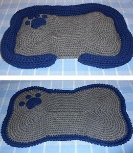 Dog Bone Mat and Bed