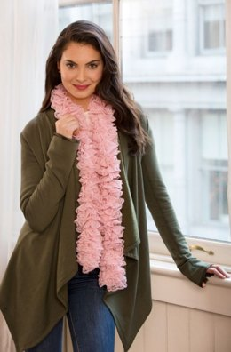 Full of Lace Crochet Scarf in Red Heart Boutique Sassy Lace - LW4171