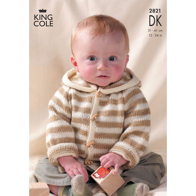 Mix 'n' Match Raglan Sweaters and Jackets in King Cole Big Value DK - 2821