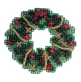 Mill Hill Holly Wreath Cross Stitch Kit - Multi