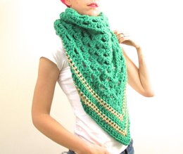 Green&Gold Blanket Scarf