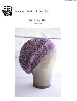 Martine Hat in Manos del Uruguay Silk Blend Fino