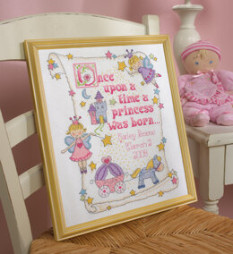 Bucilla Princess Birth Record Cross Stitch Kit