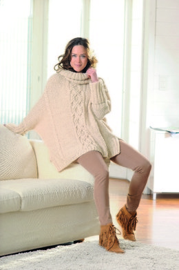 Poncho-Pullover in Schachenmayr Soft Mix - 1984 - Downloadable PDF