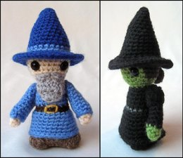 Witch and Wizard Mini Amigurumi