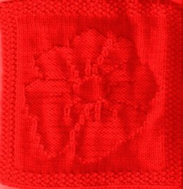 Anzac Poppy Knitted Dishcloth