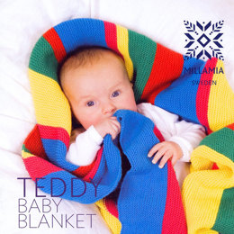 """Teddy Baby Blanket"" - Afghan Knitting Pattern For Beginners in MillaMia Naturally Soft Merino"