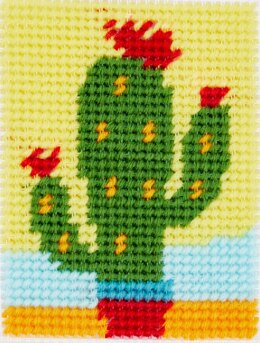 DMC Tapestry Kit 'I Can Stitch!' - The Cactus - 13 x 18cm