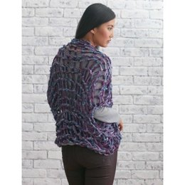 Arm Knit Shrug in Bernat Softee Chunky and Bargello