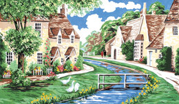 Anchor Lower Slaughter - Cotswolds Tapestry Kit - 25.5 x 43cm