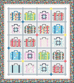 Michael Miller Fabrics Travel Daze Quilt - Downloadable PDF