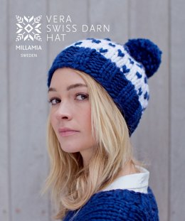 Vera Swiss Darn Hat in MillaMia Naturally Soft Super Chunky - Downloadable PDF