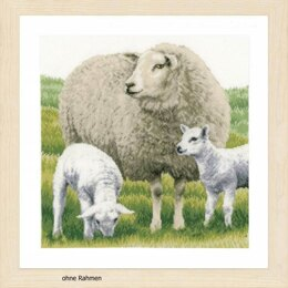 Lanarte Sheep Cross Stitch Kit (Evenweave) - Multi