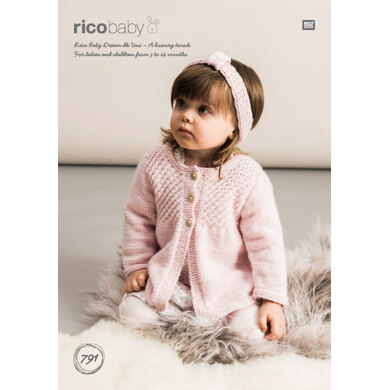 Cardigans and Headband in Rico Baby Dream DK Uni - 791 - Downloadable PDF