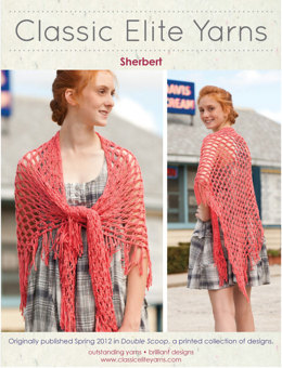 Sherbert Shawl in Classic Elite Yarns Katydid - Downloadable PDF