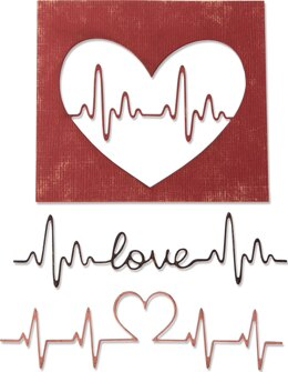 Sizzix Thinlits Dies By Tim Holtz - Heartbeat