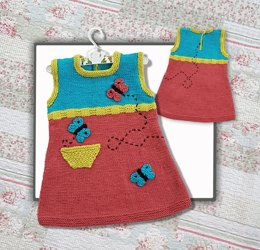 Butterfly Tunic Dress  (1-5 year old)