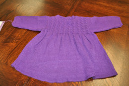 Girl's Cable Yoke Dress in Karabella Supercashmere