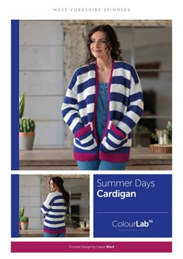 Summer Days Tunisian Cardigan in West Yorkshire Spinners ColourLab - Downloadable PDF