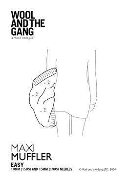 Maxi Muffler in Wool and the Gang - Downloadable PDF