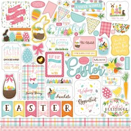 """Echo Park Paper I Love Easter Cardstock Stickers 12""""X12"""" - Elements"""