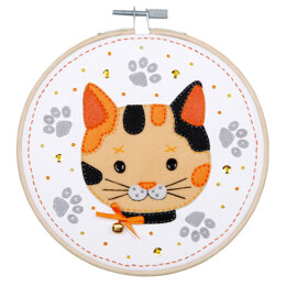 Vervaco Felt Craft Kit with Frame: Kitten - 16cm