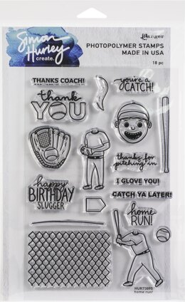 "Ranger Simon Hurley create. Cling Stamps 6""X9"" - Home Run!"