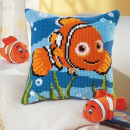 Vervaco Disney - Nemo Cross Stitch Cushion Kit - 40cm x 40cm