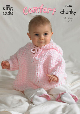Blanket, Jacket, Cape and Rabbit in King Cole Comfort Chunky - 3046