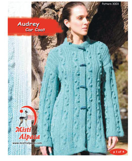 Audrey Car Coat in Misti Alpaca Chunky - 3003 - Downloadable PDF