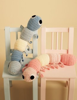 Cuddly Caterpillars in Bernat Handicrafter Cotton Solids