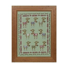 Historical Sampler Company Rudolph & Friends Cross Stitch Kit - 16ct Aida