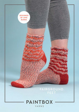 Fairground Feet Socks in Paintbox Yarns Socks - Downloadable PDF