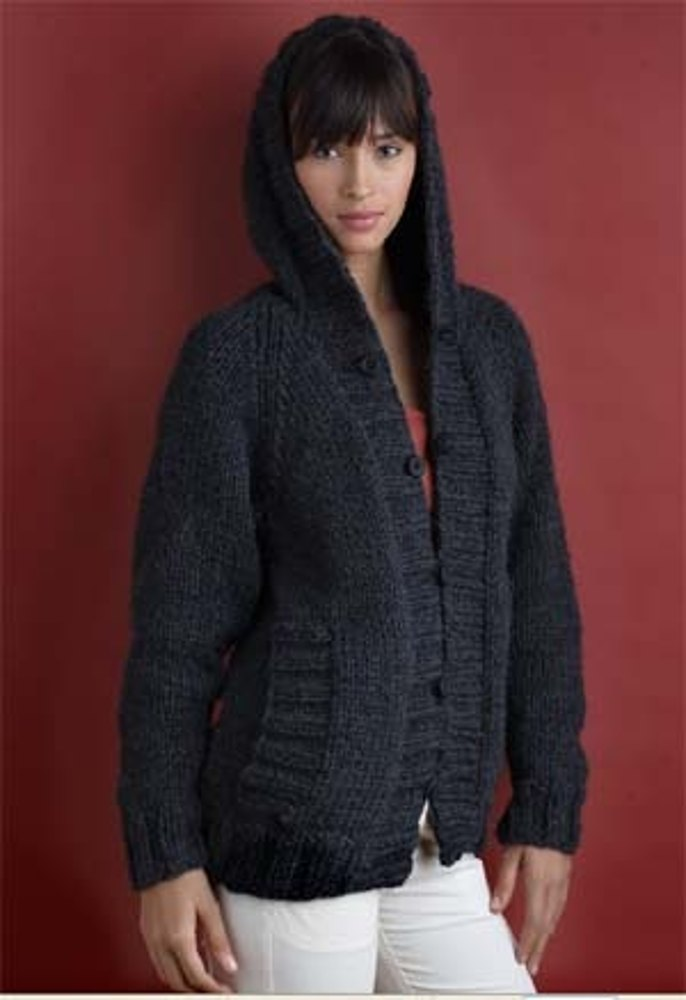 7645f53c4 Everyone s Favorite Cardigan in Lion Brand Wool-Ease Chunky - 60302AD. Free.  Free pattern