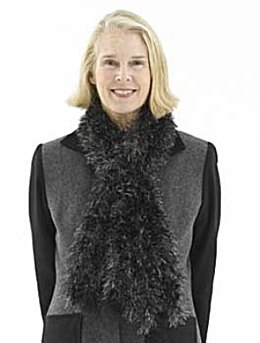 "Knitted ""Mink"" Stole in Lion Brand Fun Fur"