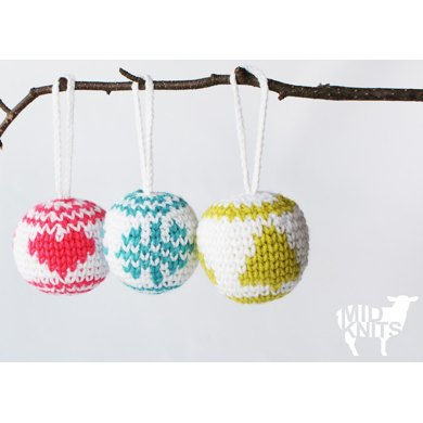 Christmas Baubles 2015034 Crochet Pattern By Midknits