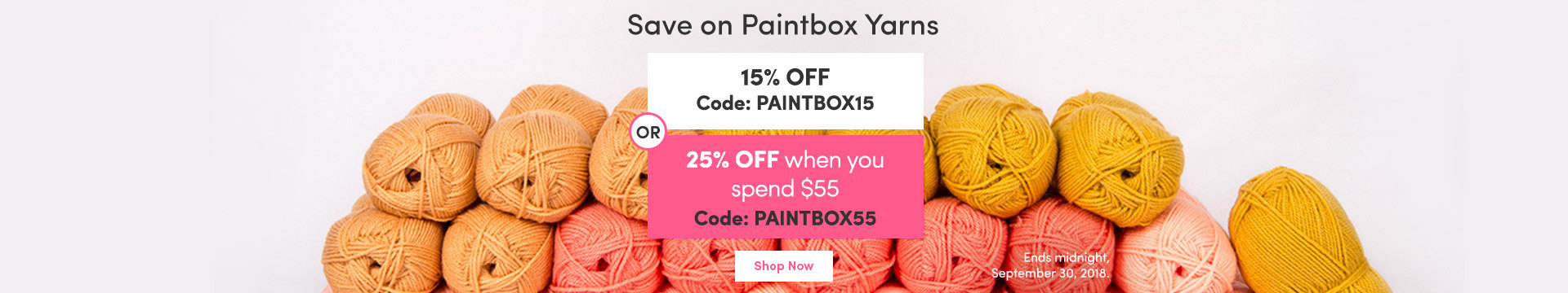 LC Marketing NA 25% off Paintbox Yarns
