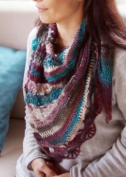 Playful shawl