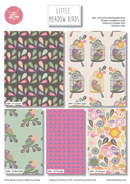 Craft Cotton Company Little Meadow Birds Fat Quarter Bundle