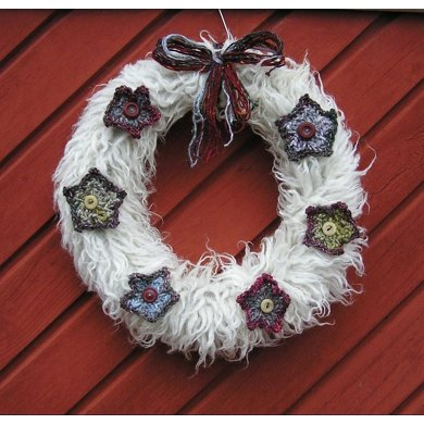 Christmas wreath from Noro stash